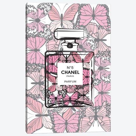 Chanel Butterflies 3-Piece Canvas #PAV58} by Martina Pavlova Canvas Print