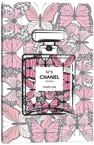Chanel Butterflies Canvas Art Print