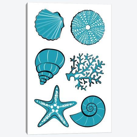 Sea Life Canvas Print #PAV590} by Martina Pavlova Canvas Print