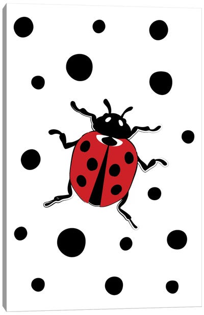 Dotty The Ladybug Canvas Art Print
