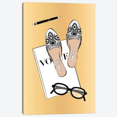 Vogue Life 3-Piece Canvas #PAV592} by Martina Pavlova Canvas Art Print