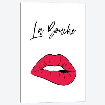 La Bouche Lips Canvas Print #PAV596} by Martina Pavlova Canvas Artwork