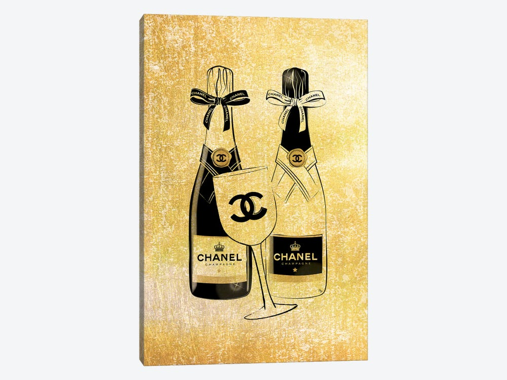 Chanel Champagne by Martina Pavlova 1-piece Canvas Print
