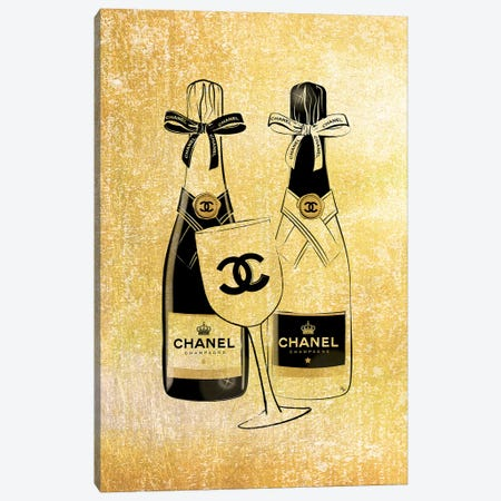 Chanel Champagne 3-Piece Canvas #PAV59} by Martina Pavlova Canvas Print