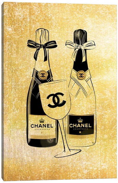 Chanel Champagne Canvas Art Print