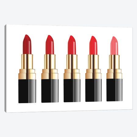 Lipstick Line Canvas Print #PAV601} by Martina Pavlova Canvas Art Print
