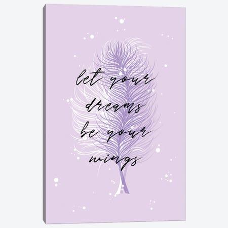 Purple Feathers Canvas Print #PAV603} by Martina Pavlova Art Print