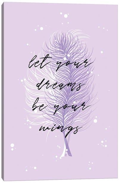 Purple Feathers Canvas Art Print