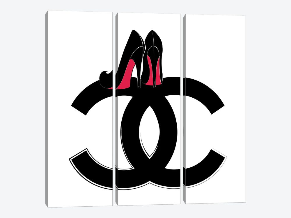 CC Heels by Martina Pavlova 3-piece Art Print