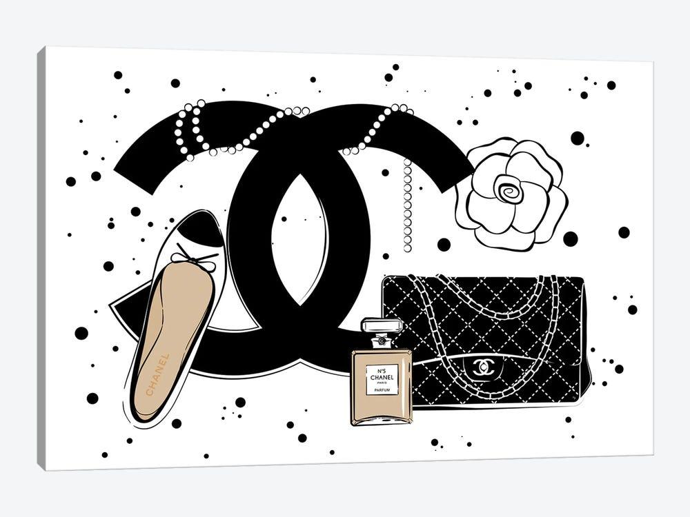 Chanel Items by Martina Pavlova 1-piece Canvas Wall Art