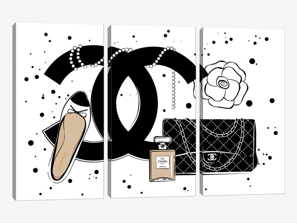 Chanel Items by Martina Pavlova 3-piece Canvas Artwork