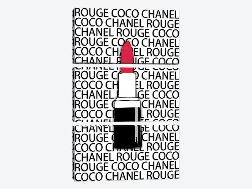 Chanel Rouge by Martina Pavlova 3-piece Canvas Artwork