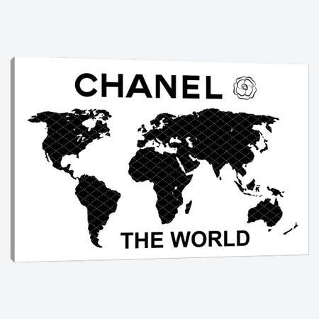 Chanel The World 3-Piece Canvas #PAV616} by Martina Pavlova Canvas Print