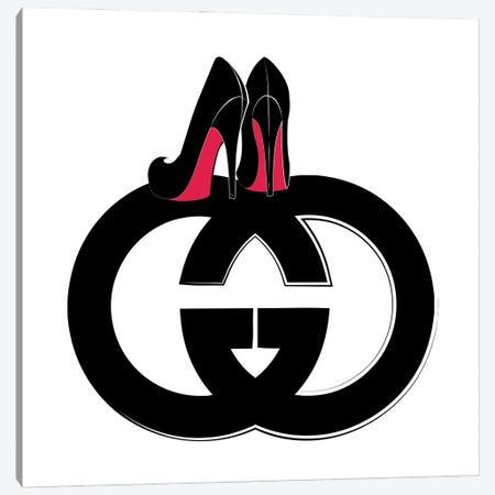 GG Logo Heels Canvas Print #PAV617} by Martina Pavlova Art Print