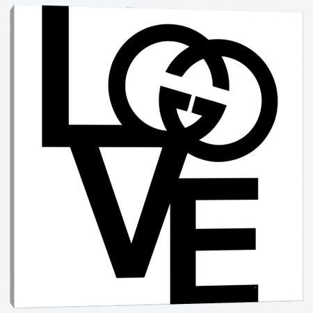 GG Logo Love 3-Piece Canvas #PAV618} by Martina Pavlova Canvas Artwork