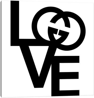 GG Logo Love Canvas Art Print