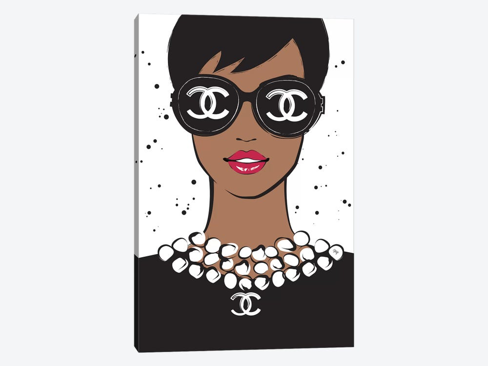 Chanel Lady II by Martina Pavlova 1-piece Canvas Wall Art