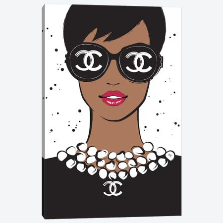 Chanel Lady II Canvas Print #PAV61} by Martina Pavlova Canvas Wall Art