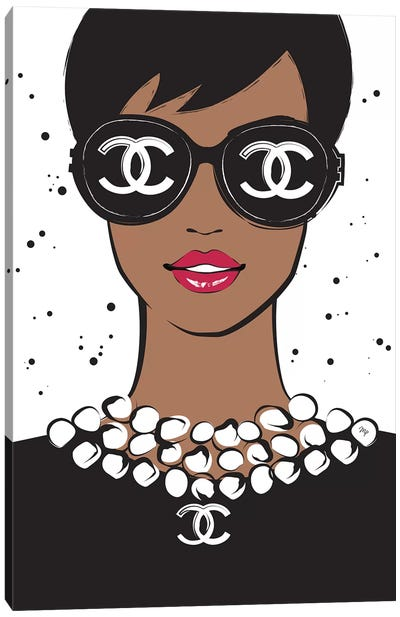 Chanel Lady II Canvas Art Print