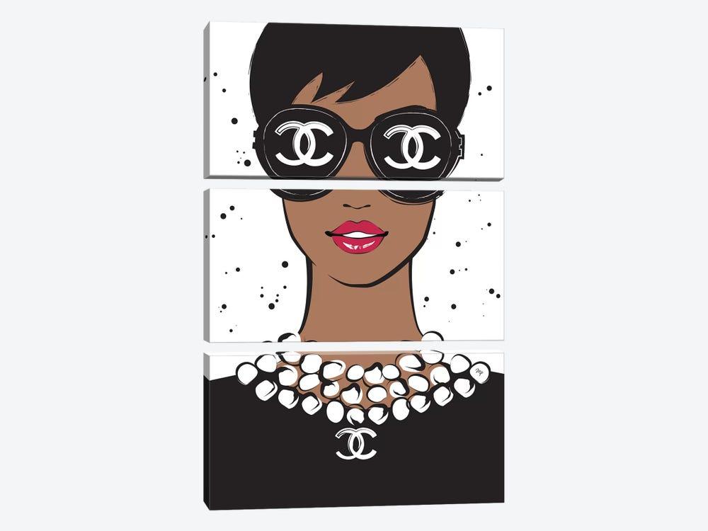 Chanel Lady II by Martina Pavlova 3-piece Canvas Wall Art