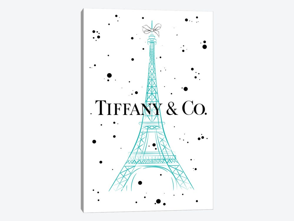 Tiffanys In Paris by Martina Pavlova 1-piece Canvas Artwork