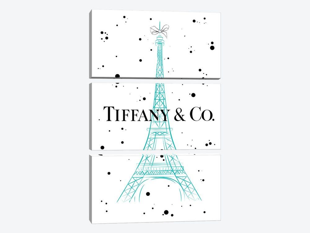 Tiffanys In Paris by Martina Pavlova 3-piece Canvas Artwork