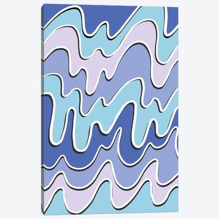 Blue Waves Canvas Print #PAV625} by Martina Pavlova Canvas Wall Art