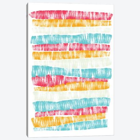 Bright Stripes Canvas Print #PAV626} by Martina Pavlova Canvas Art
