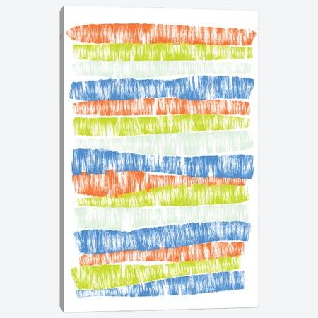 Bold Stripes Canvas Print #PAV627} by Martina Pavlova Canvas Artwork