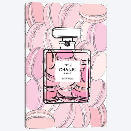Chanel Macarons Canvas Print #PAV62} by Martina Pavlova Canvas Artwork