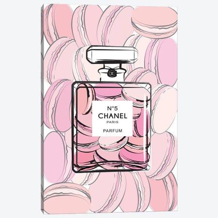 Chanel Macarons Canvas Print #PAV62} by Martina Pavlova Canvas Artwork