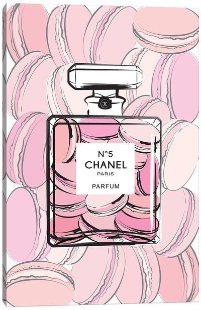 Chanel Macarons Canvas Art Print