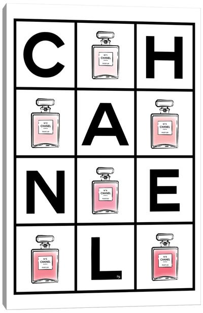 Chanel Perfumes Canvas Art Print