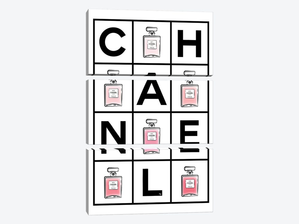 Chanel Perfumes 3-piece Canvas Art