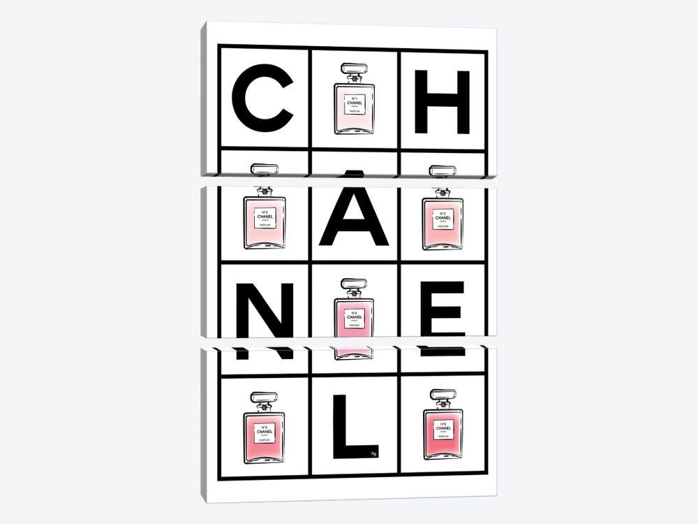 Chanel Perfumes by Martina Pavlova 3-piece Canvas Art