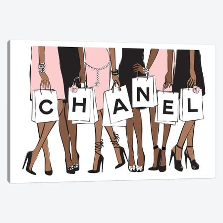 Chanel Shopping II Canvas Print #PAV64} by Martina Pavlova Canvas Print