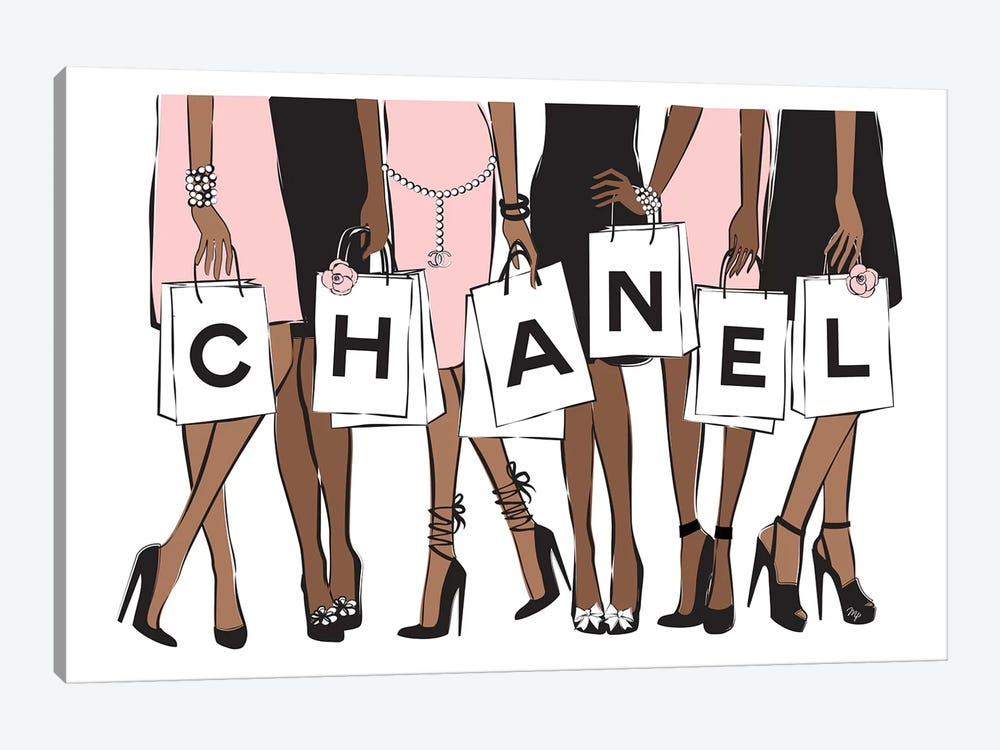 Chanel Shopping II by Martina Pavlova 1-piece Art Print