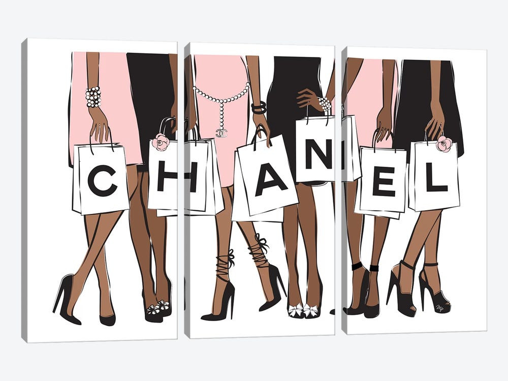 Chanel Shopping II 3-piece Canvas Print