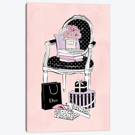 Charming Chair Canvas Print #PAV65} by Martina Pavlova Art Print