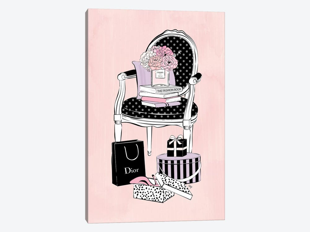 Charming Chair by Martina Pavlova 1-piece Canvas Wall Art