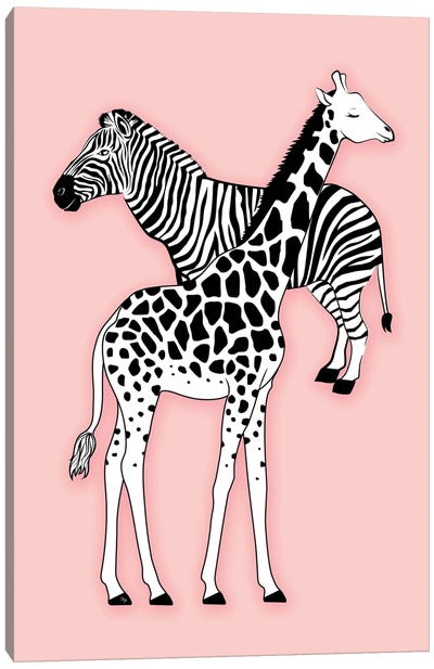Animal Print Pink Canvas Art Print