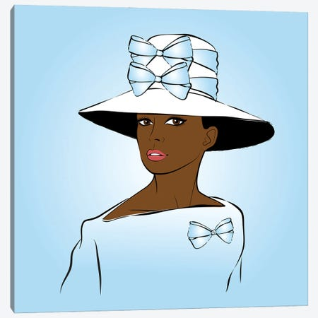 Elegant Lady Blue Canvas Print #PAV662} by Martina Pavlova Art Print