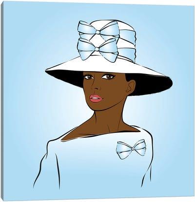 Elegant Lady Blue Canvas Art Print
