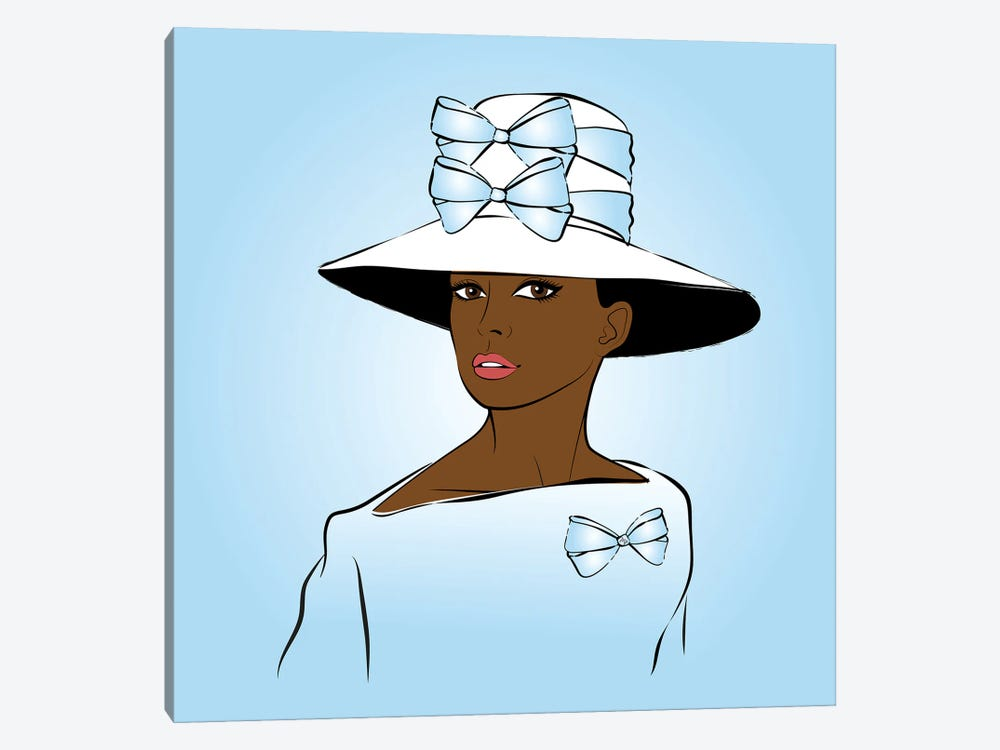 Elegant Lady Blue by Martina Pavlova 1-piece Canvas Art