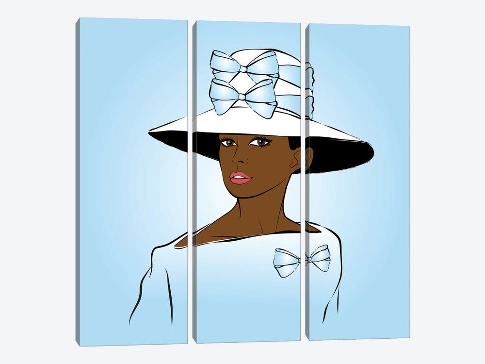 Elegant Lady Blue by Martina Pavlova 3-piece Canvas Artwork