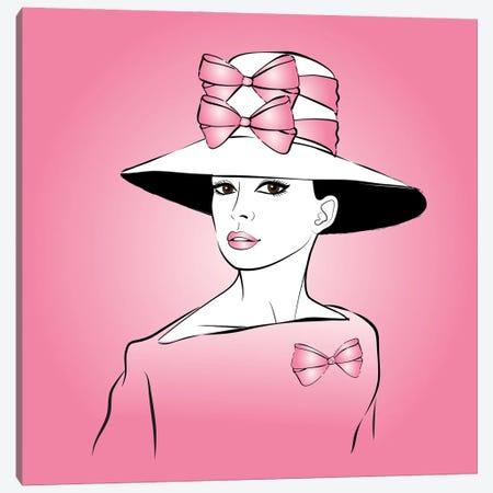 Elegant Lady Pink Canvas Print #PAV663} by Martina Pavlova Art Print