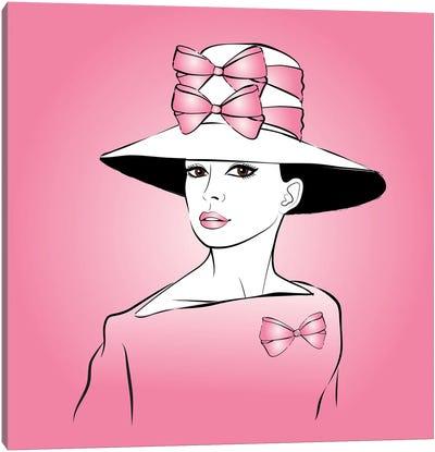 Elegant Lady Pink Canvas Art Print