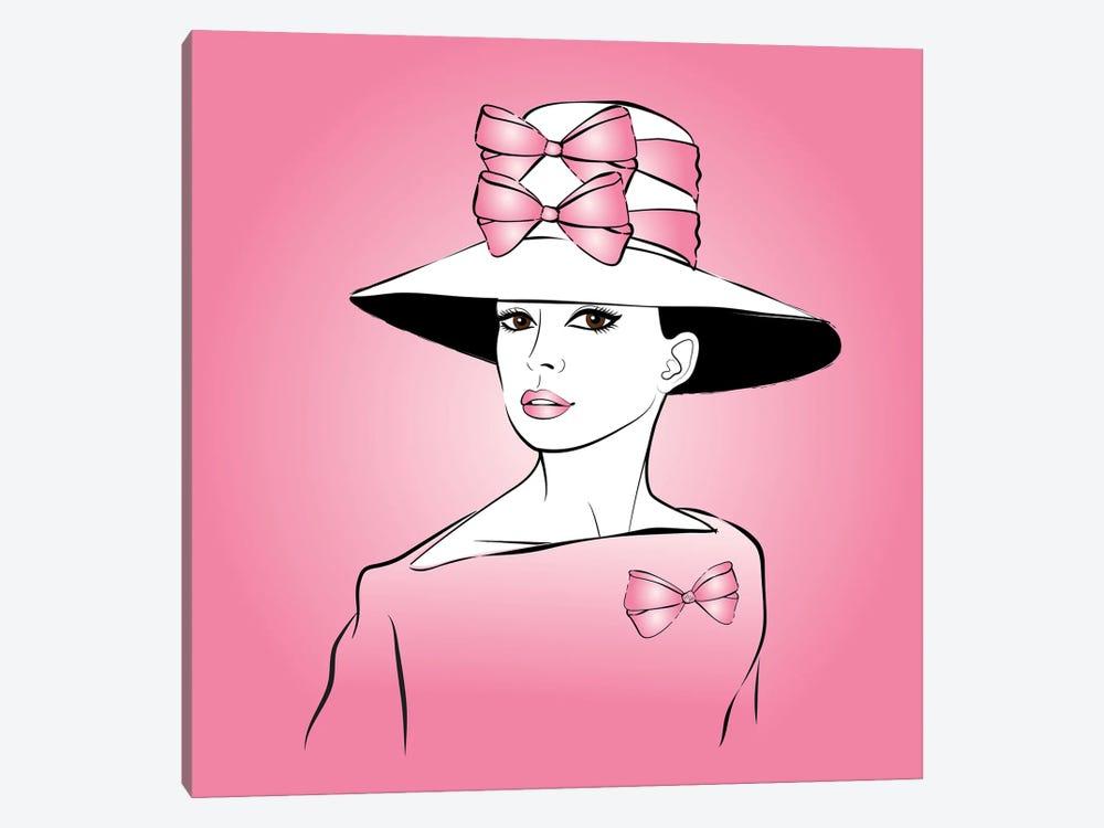 Elegant Lady Pink by Martina Pavlova 1-piece Canvas Art Print
