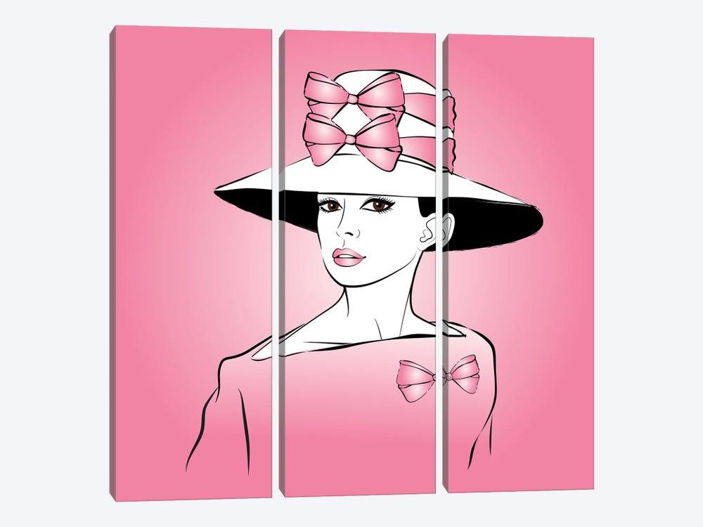Elegant Lady Pink by Martina Pavlova 3-piece Canvas Print