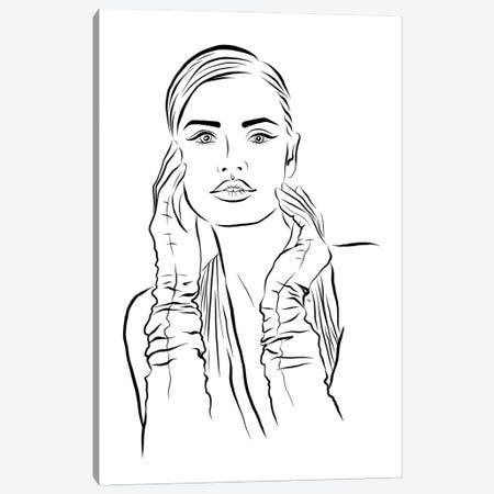 Woman Portait Canvas Print #PAV668} by Martina Pavlova Canvas Print